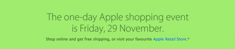 One-Day Apple Shopping Event
