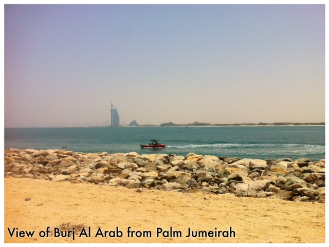 View of Burj Al Arab from Palm Jumeirah