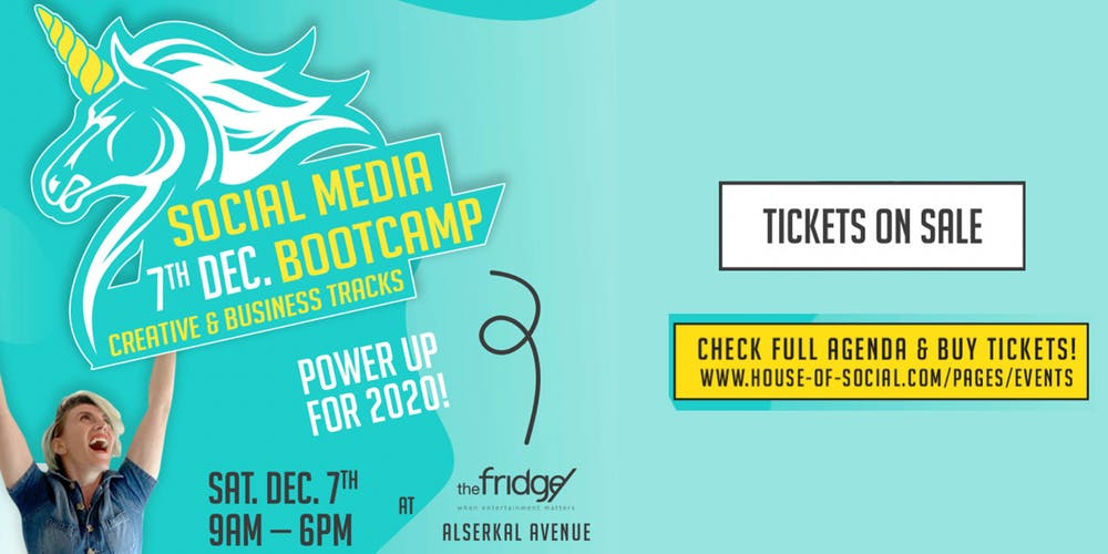 1 Day Social Media Bootcamp Dubai 2019 on Dec 7th at The Fridge