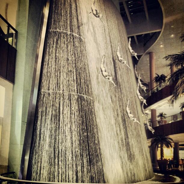 Dubai Waterfalls at Dubai Mall