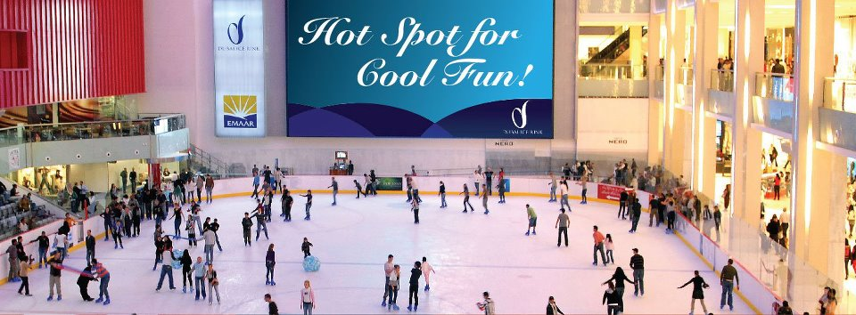 Dubai Ice Rink, spectacular venue, skating,  play ice hockey, Dubai, UAE, lympic-size ice rink, fun, Entertainment