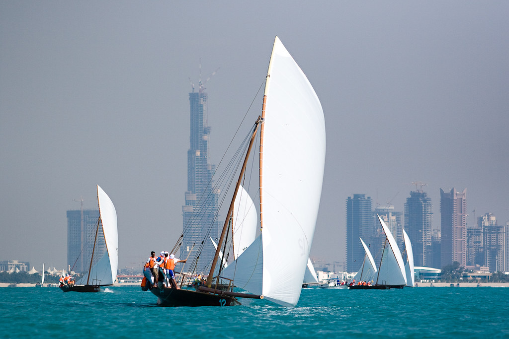 60ft Traditional Dhow Sailing Race Heat 1 on Nov 16th at Dubai International Marine Club