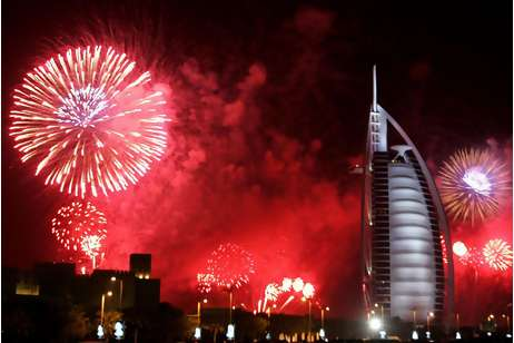 New Year Fireworks at Burj Al Arab Dubai