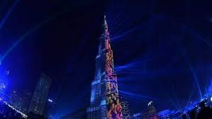 Burj Khalifa light Show 2018