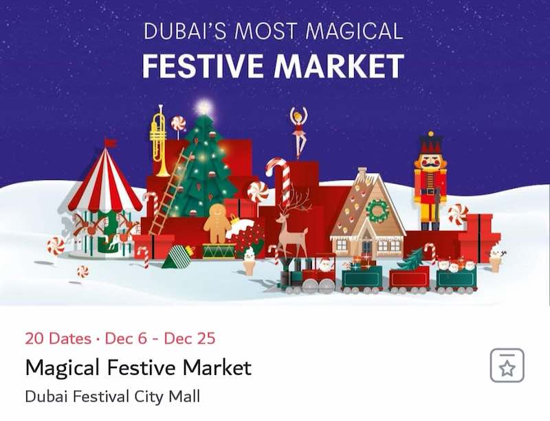 Christmas Market Dubai Festival City 2018