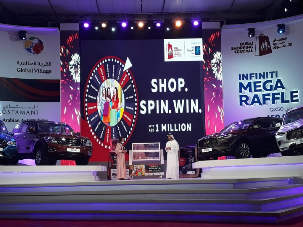 Dubai Shopping Festival Raffle Draw Winners List - DSF 2020 - 2021 - Dubai Shopping Malls Group DSMG Malls Raffle Draws Spin the wheel