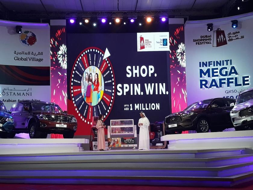 Dubai Shopping Festival Raffle Draw Winners List - DSF 2020 - 2021 - Dubai Shopping Malls Group DSMG Malls Raffle Draws Spin the wheel