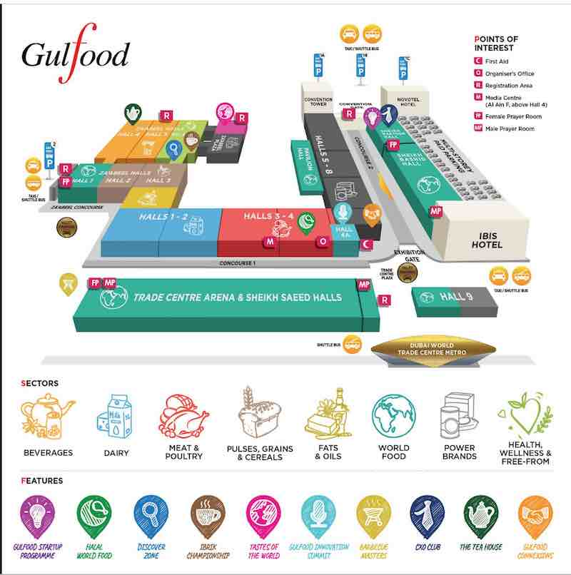 Gulfood 2019 food & beverages trade show Dubai