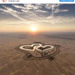 Heart shaped lake Dubai UAE