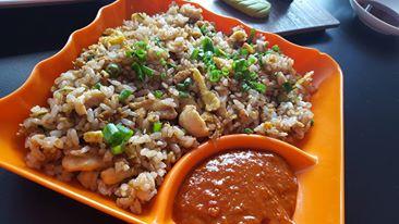 Sticky Chicken fried rice - Moshi Restaurant Dubai Review