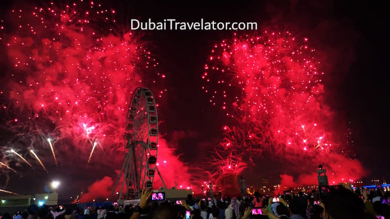 New year fireworks at Ras Al Khaimah 2019 taking place in Al Marjan Island – free entry