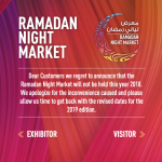 RAMADAN NIGHT MARKET 2018 Dubai