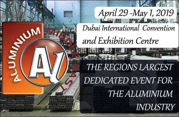 Aluminium Middle East April 29, 2019 to Wednesday, May 1, 2019
