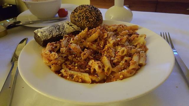Atlantis, The Palm Hotel Dubai Food menu pasta