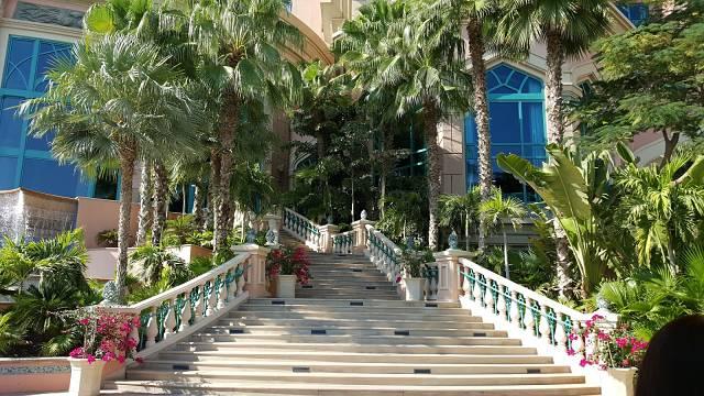 Atlantis hotel Dubai - The Palm Hotel review - steps