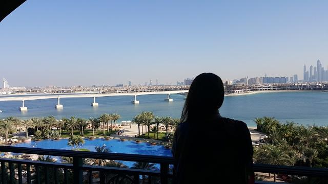 Atlantis, The Palm Hotel Dubai - View from balcony