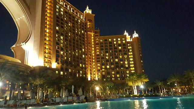 Atlantis, The Palm Hotel Dubai night view