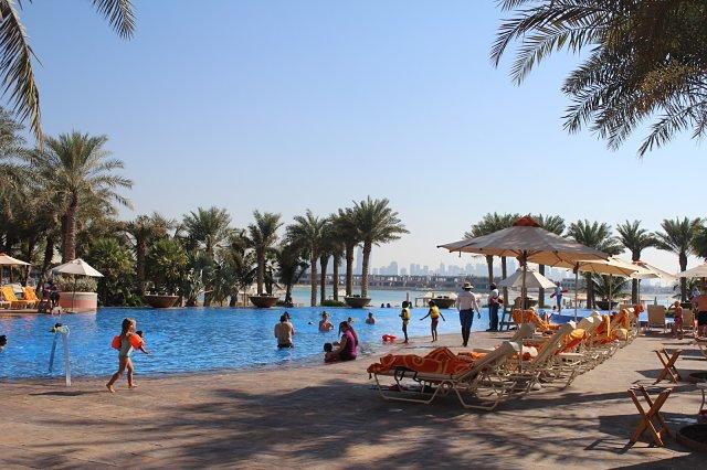 Atlantis, The Palm Hotel Dubai - Pool area side view