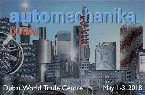 Automechanika Dubai 2018 at Dubai World Trade Centre on 1 – 3 May 2018