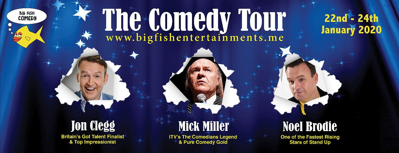 Big Fish Comedy Tour on Jan 22nd – 24th at Mövenpick Hotel Jumeirah Beach Dubai
