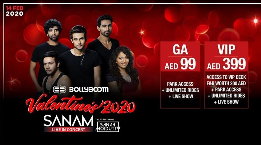Bollyboom with Sanam and Sanah on Feb 14th at Bollywood Parks Dubai