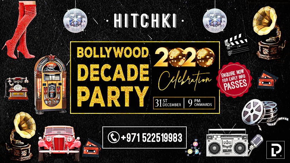 Bollywood Decade Party on Dec 31st at Hitchki, Grand Millennium Dubai