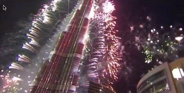 New Year fireworks 2019 at Burj Khalifa
