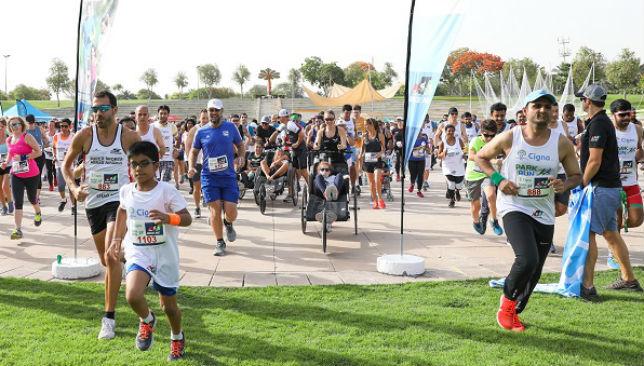 Cigna Park Run 2019 on Dec 7th at Kite Beach Dubai