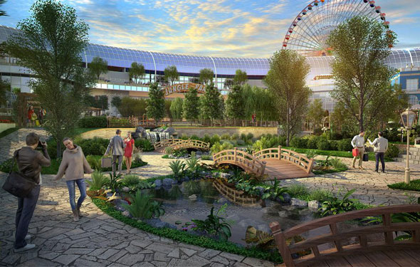 Cityland Mall in Dubai - Central Garden