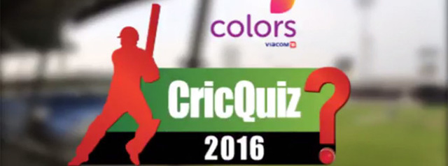 Colors Cric Quiz 2016 – TV show in Dubai, UAE.