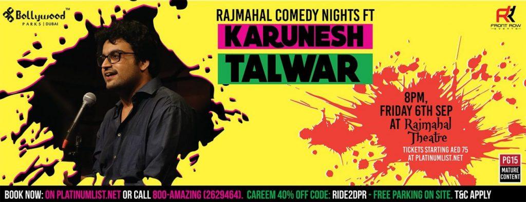 Comedy Nights with Karunesh Talwar Dubai 2019