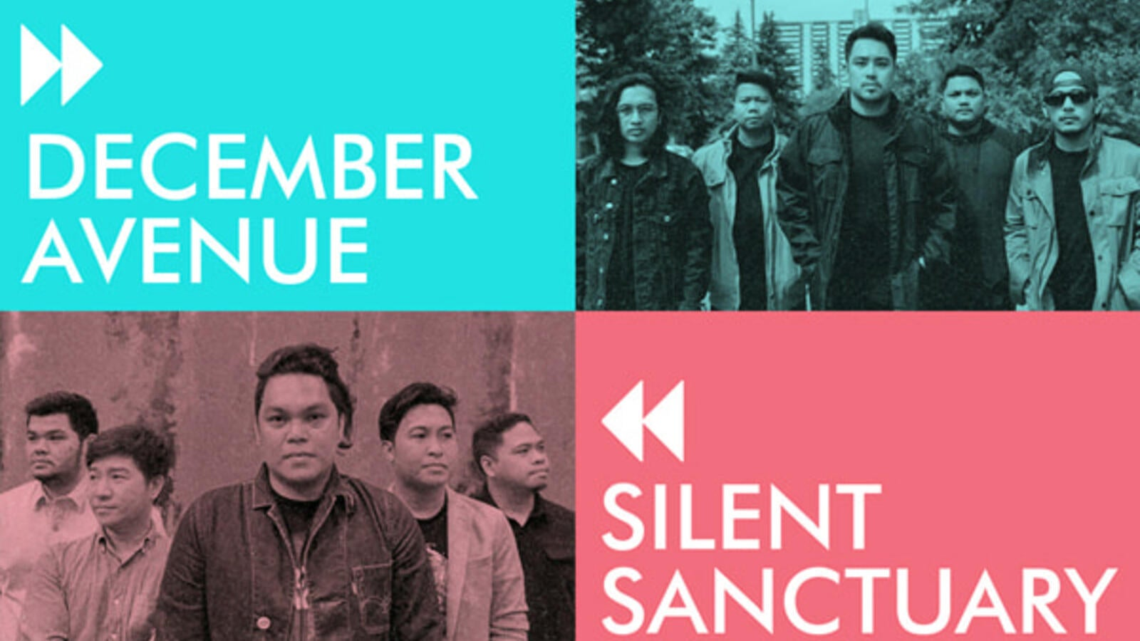 December Avenue and Silent Sanctuary Live on Jan 10th at Dubai Duty Free Tennis Stadium