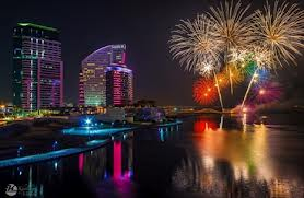 New Year Fireworks at Dubai Festival City 2014
