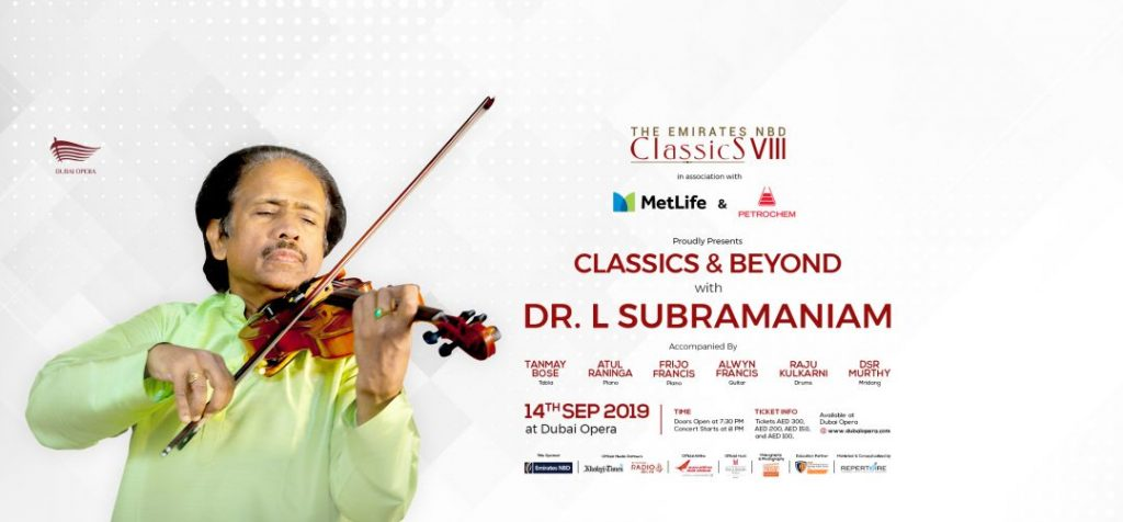 Dr. L Subramaniam Concert at Dubai Opera 2019