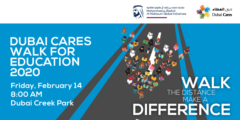 Dubai Cares Walk for Education on Feb 14th at Dubai Creek Park