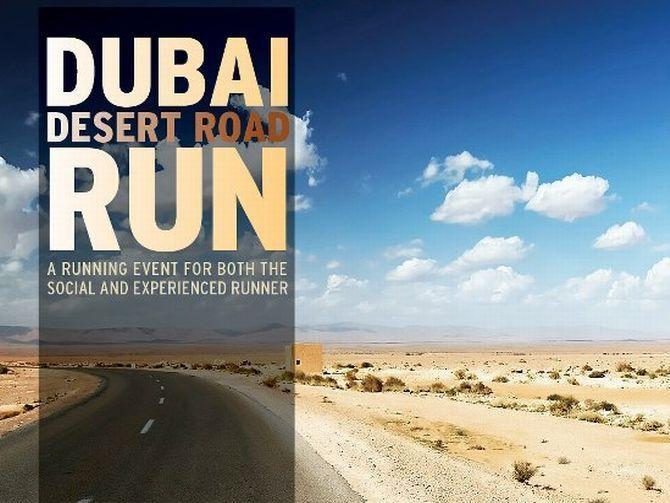 Dubai Desert Road Run 2015 in Dubai, UAE
