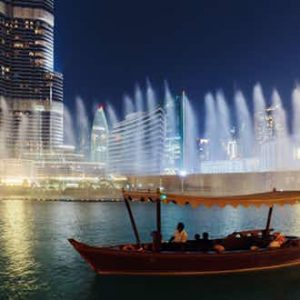 The Dubai Fountain Lake Ride
