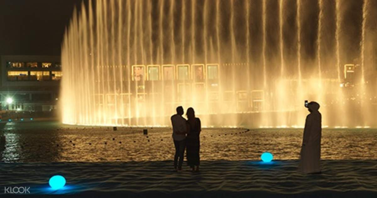 Dubai Fountain Walk Bridge and Lake Ride