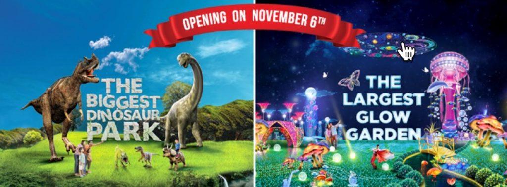 Dubai Garden Glow  & Dinosaur Park 2016 - 2017