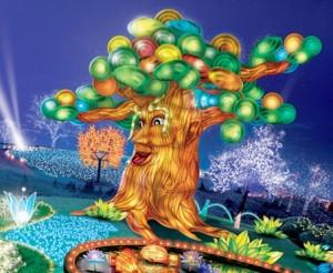 Dubai garden glow talking tree