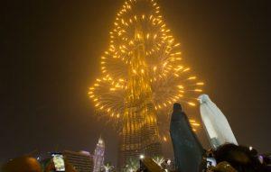 New Year Eve 2018 Fireworks - Burj Khalifa