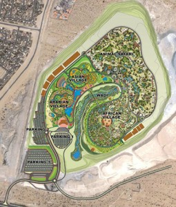 Dubai safari zoo park location layout