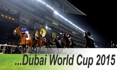 Dubai World Cup 2015 - Racing at Meydan