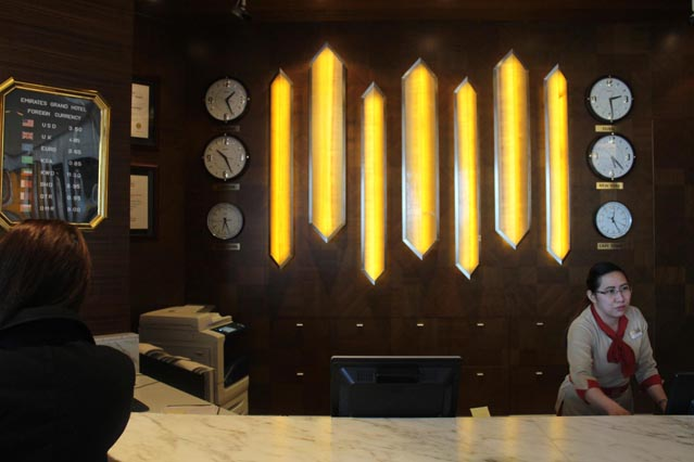Emirates Grand Hotel Dubai UAE Reception – Review