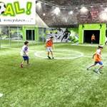 Indoor football for kids in Goal - Dubai Mall