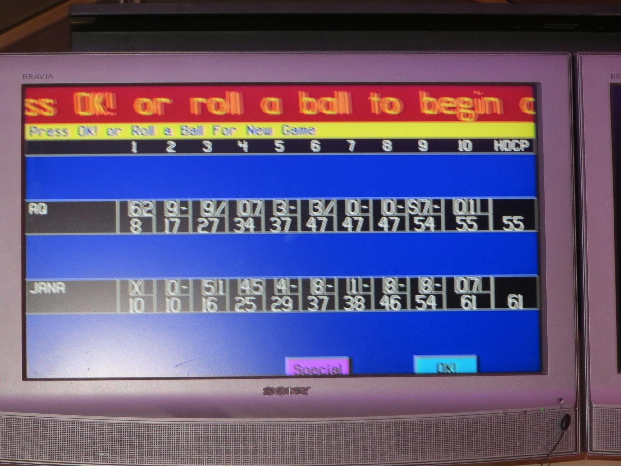 Kempinski Hotel, Ajman Review - Bowling Play Score
