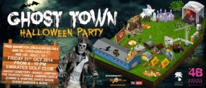 Ghost town halloween party in Dubai