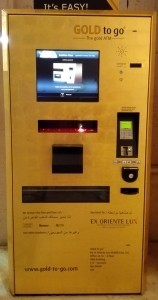 Gold ATM in Dubai, UAE