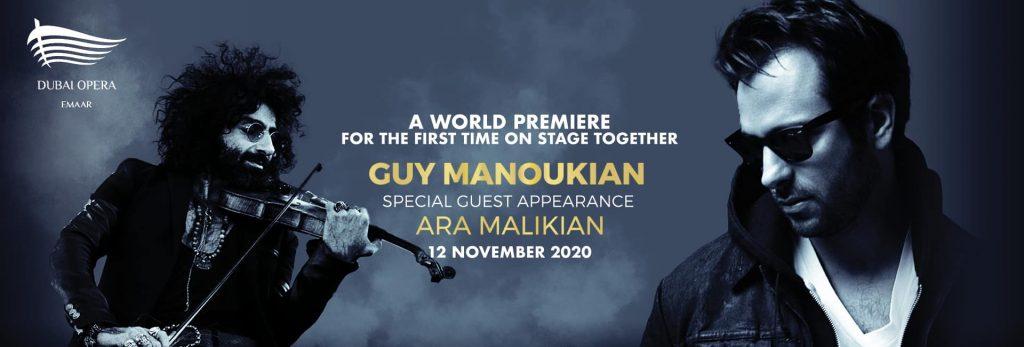 Guy Manoukian and Ara Malikian at Dubai Opera
