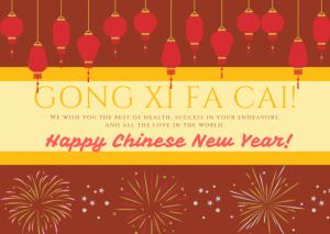 Happy Chinese new year in Dubai